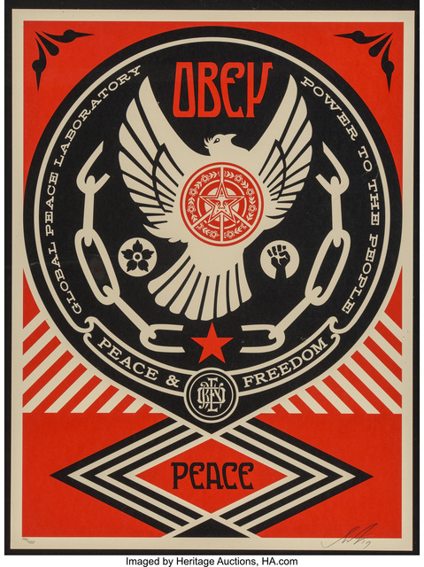 Shepard Fairey (OBEY), 'Peace and Freedom Dove', 2014, Heritage Auctions