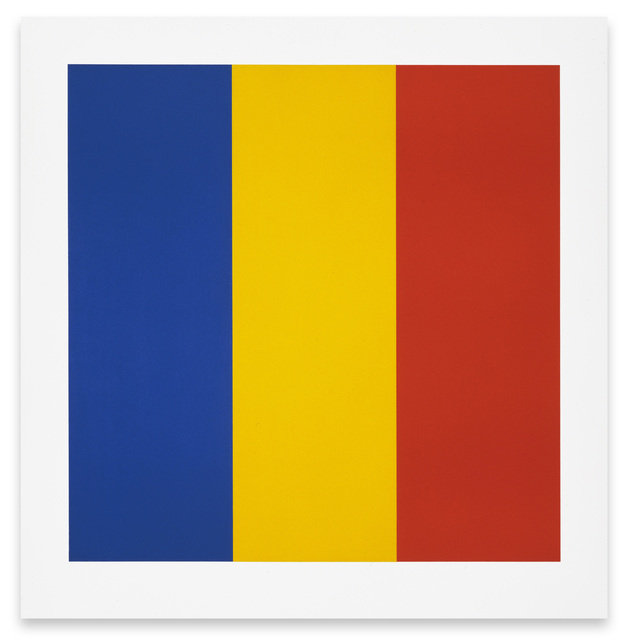 , 'Blue/Yellow/Red,' 1991, Barry Whistler Gallery