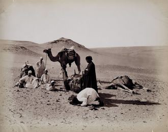 Album containing approximately 85 albumen prints (and additionally three gravures) of Egyptian views