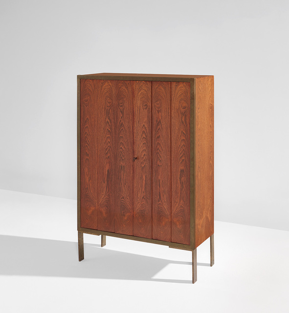 Eugène Printz, 'Cabinet', circa 1925, Design/Decorative Art, Brazilian rosewood-veneered wood, brass., Phillips