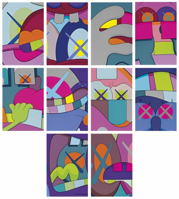KAWS, 'Ups and Downs', 2013, Print, The complete set of ten screenprints in colors, on Saunders Waterford High White paper, Christie's