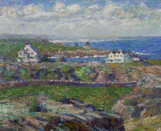 , 'Houses on the Sound,' ca. 1909, Debra Force Fine Art
