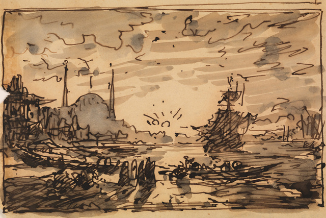 , 'Constantinople, Sunset over the Bosphorus,' 1880-1890, Pera Museum