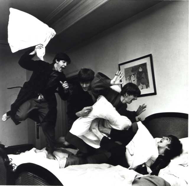 , 'The Beatles Pillow Fight, Hotel George V, Paris,' 1964, Steven Kasher Gallery