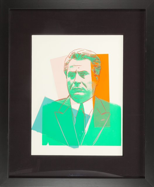 Andy Warhol, 'John Gotti', 1986, Print, Screenprint with colored paper collage, Heritage Auctions
