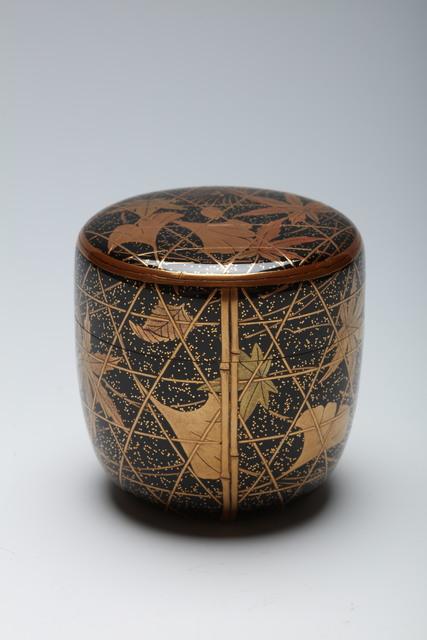 , 'Tea Caddy with Maple and Gingko Leaves and Pine Needles (T-4324),' Heisei era (1989–present)-ca. 2000, Erik Thomsen