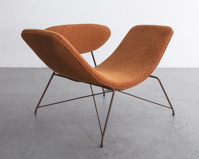 , 'Lounge chair with upholstery and wrought iron frame. ,' 1950-1959, R & Company