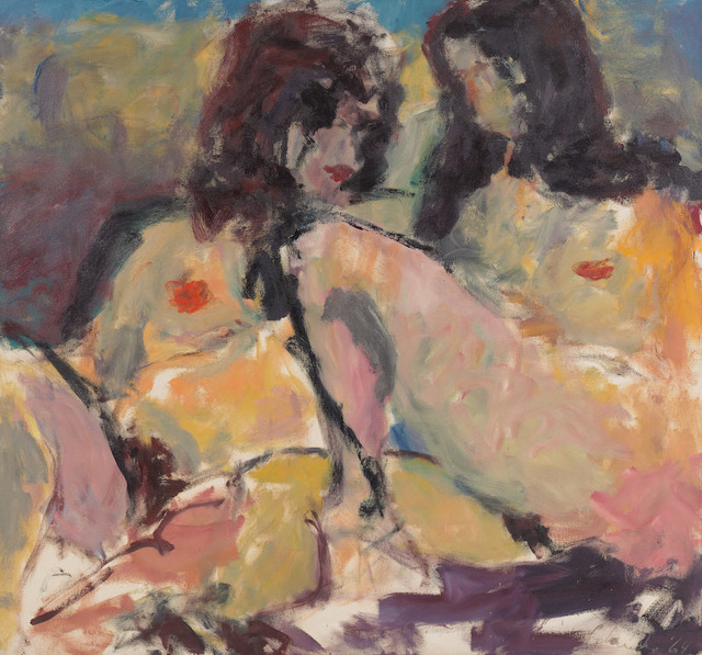 , 'Two Women (o/c 64-9),' 1964, Berry Campbell Gallery