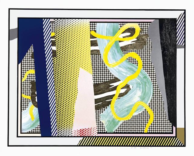 Roy Lichtenstein, 'Reflections on Brushstrokes', 1990, Meyerovich Gallery