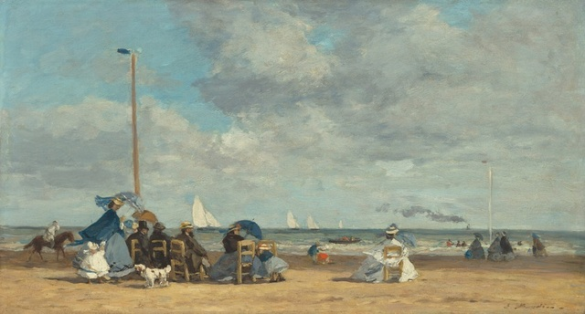 , 'Beach at Trouville,' 1864, Seattle Art Museum