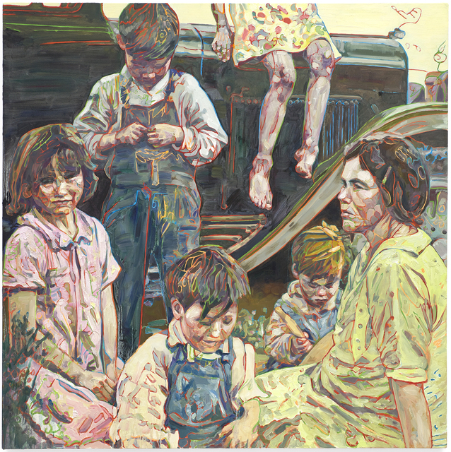 Hung Liu 刘虹, 'Howard Family', Painting, Oil on canvas, Gail Severn Gallery