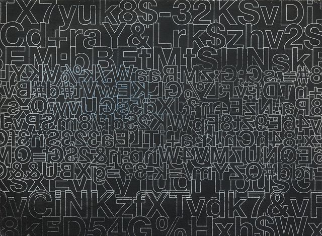 , 'Password-Painting (TX7),' 2017, Galerie Elisabeth & Klaus Thoman