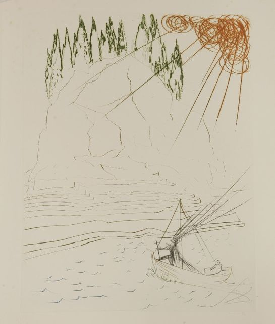 Salvador Dalí, 'The Fight With Morhoult', 1970, Print, Etching printed in colours, Sworders