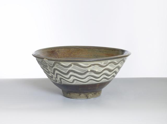 , 'Bowl with Yubigaki (Finger Drawn) Design in White Slip,' n/a, Pucker Gallery