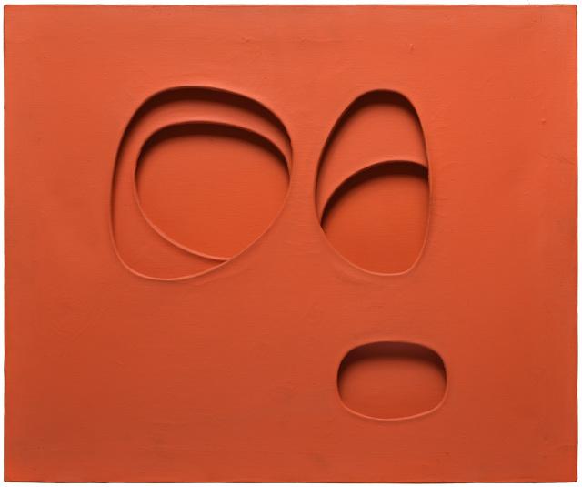 """, '""""per una situazione"""", rosso arancio,' 1963, Galerie Natalie Seroussi"""