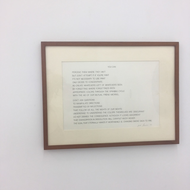 Jose-Ricardo Presman, 'YOU CAN', 2018, Drawing, Collage or other Work on Paper, Individual letter transfer poem, Amos Eno Gallery