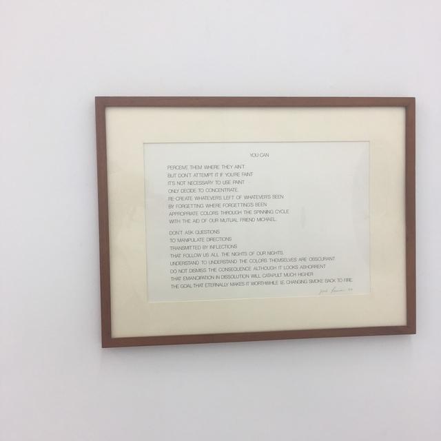 , 'YOU CAN,' 2018, Amos Eno Gallery