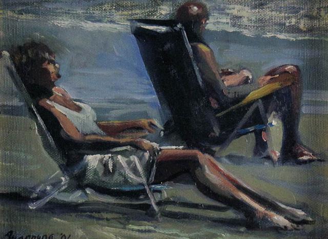 Onelio Marrero, 'Sunday Fun for Two', ca. 2010, Painting, Oil on Canvas, Janus Galleries