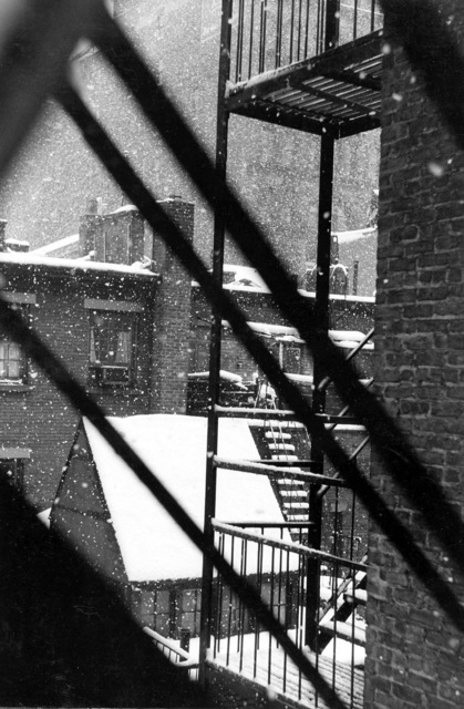David Vestal, 'Falling Snow from Back Window, 133 West 22nd Street, NYC', 1958, Robert Mann Gallery
