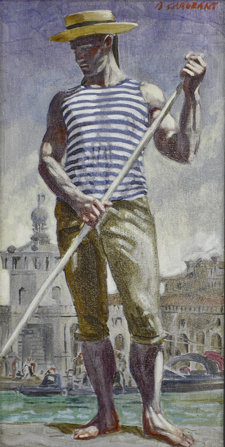 , 'Gondolier in Venice,' date unknown, Carrie Haddad Gallery