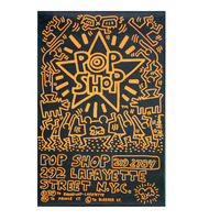 Keith Haring, POP SHOP NYC, 1985, Advertising Past-Up Poster, RARE