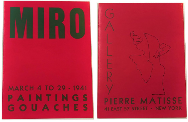 Joan Miró, ''MIRO', 1941, Exhibition Announcement, Pierre Matisse Gallery NYC', 1941, VINCE fine arts/ephemera