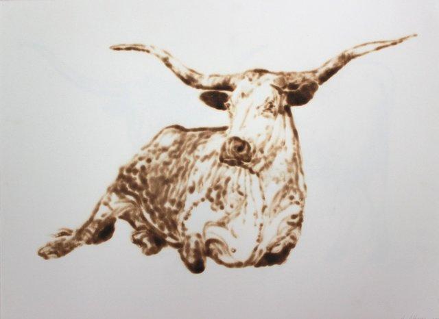 , 'Resting Longhorn,' 2012, Talley Dunn Gallery
