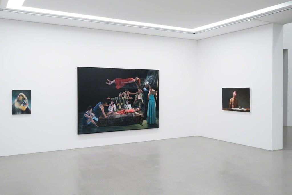 Installation view MDBK MEETS G2 with art works by Rigo Schmidt, Aris Kalaizis & Hans Aichinger © the artists & MdbK Leipzig, photo: Dotgain.info