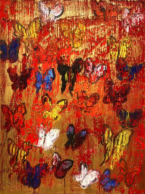 Hunt Slonem, 'Red X', 2015, Serge Sorokko Gallery
