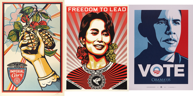 Shepard Fairey, 'Imperial Glory, Aung San Suu Kyi and Vote', Rago