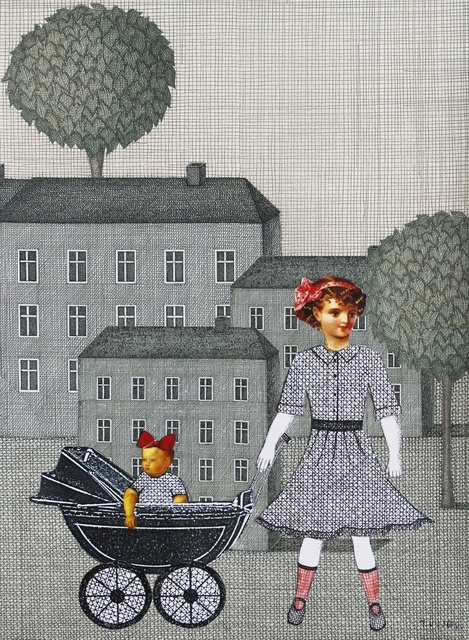 , 'Papertown - girl with a stroller,' 2005, Gallery Katarzyna Napiorkowska | Warsaw & Brussels
