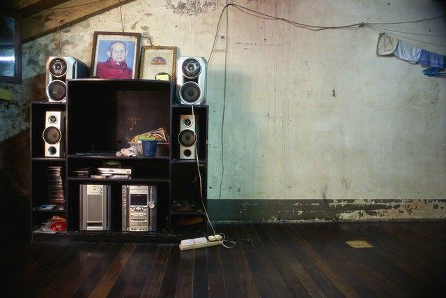 , '27_Still life with sound system,  washcloths and monk portrait,' 2011, Art Vietnam Gallery