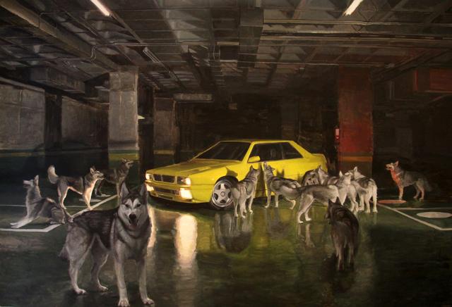 , 'Los lobos y el olor a gasolina,' 2018, Galeria Contrast