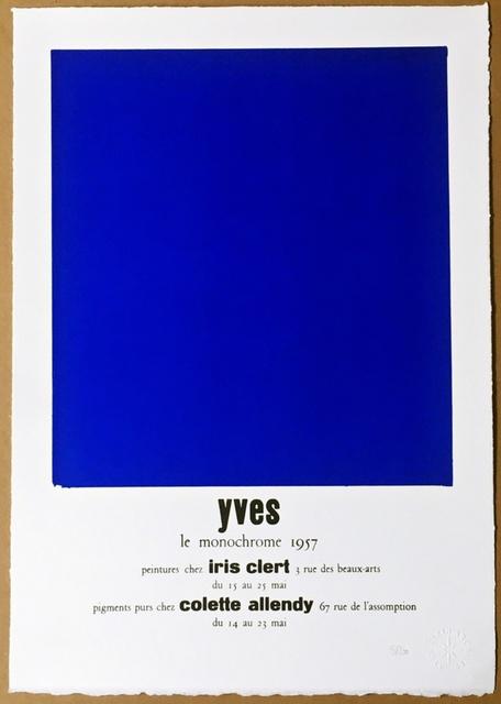 Yves Klein, 'Peintures Chez Iris Clert (Certified by Yves Klein Archives)', 2015, Alpha 137 Gallery