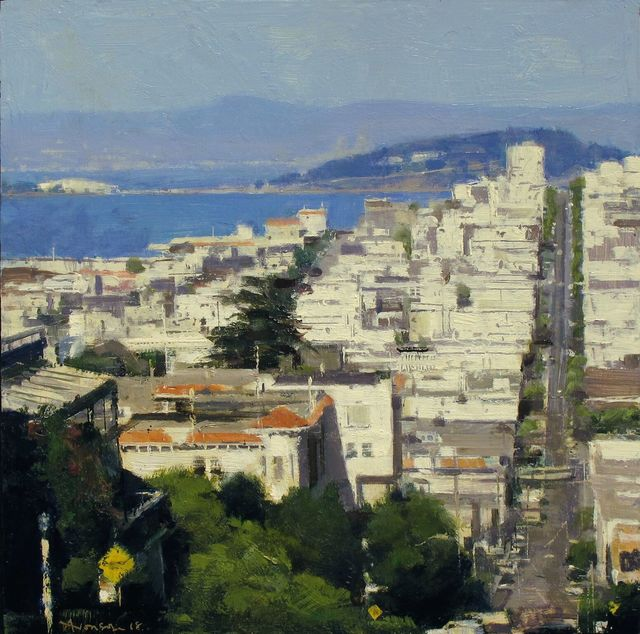 , 'Sunlit Buildings, Telegraph Hill,' 2018, Jenkins Johnson Gallery