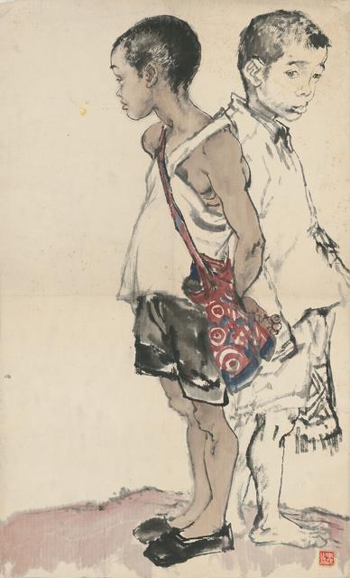 Li Jin 李津, 'Figure Study of Two Schoolboys 造型练习:两个上学郎', 1981, Ink Studio
