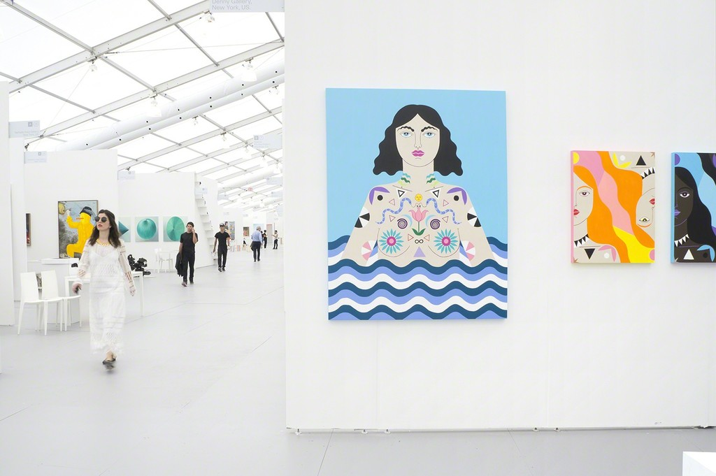 Installation view of booth B6. Caris Reid.