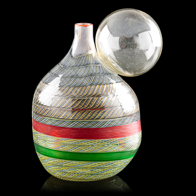 Yoichi Ohira, 'Bolla vase with original framed drawing, Murano, Italy', 1995, Rago