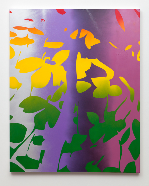, 'Pinched Flower (purple, green, yellow, red),' 2015, Erin Cluley Gallery