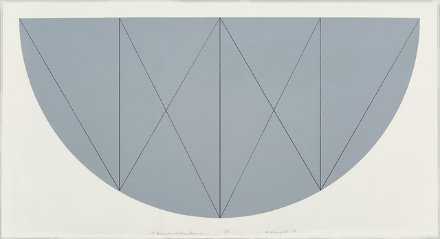 , '1/2 Brown Curved Area, Series X,' 1968, Nikola Rukaj Gallery
