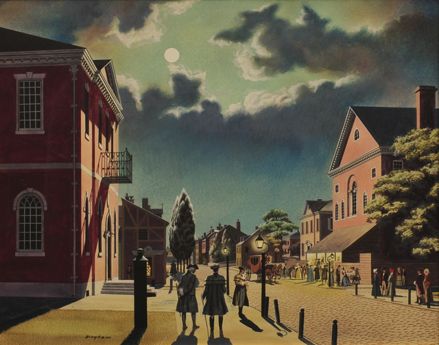 James R. Bingham, 'Chestnut Street's New Theatre', 1948, The Illustrated Gallery
