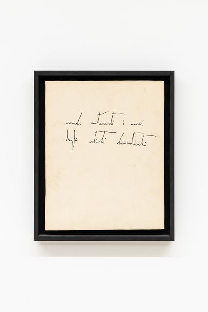 Nicola De Maria, 'Mobile Infinito (Armadi contenenti i nomi degli artisti dimenticati)', 1981, Galerie Italienne