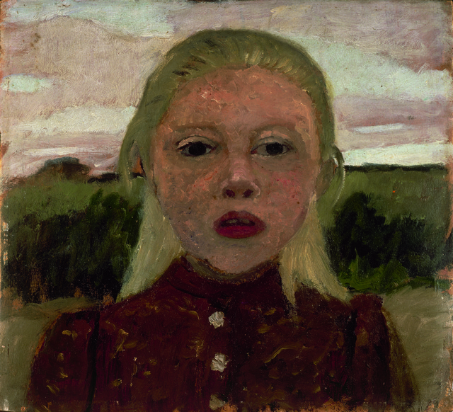 , 'Kopf eines blonden Mädchens vor Landschaft (Head of a Blonde Girl in front of a Landscape),' 1901, Louisiana Museum of Modern Art