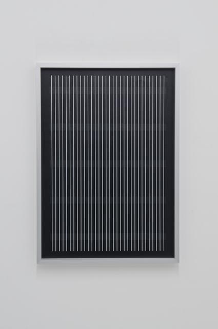 , '31 vertical lines, 5 horizontal bars,' 2016, dr. julius | ap