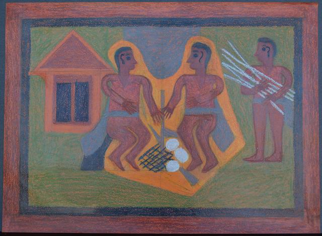 Eddie Arning, 'Bush Men', Webb Gallery