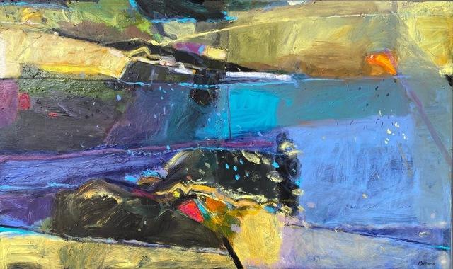 John Brown, 'Lily Pond', 2018, Painting, Acrylic, Tatha Gallery