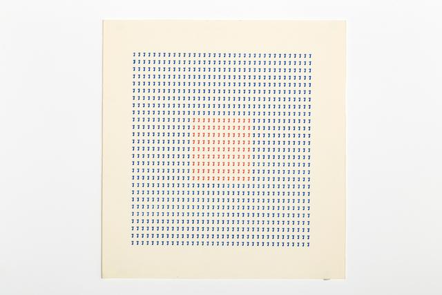 , 'Typecode 5,' 1978, Richard Saltoun