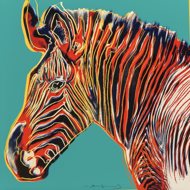 Andy Warhol, 'Grevy's Zebra, from Endangered Species F&S II.300', 1983, Fine Art Mia