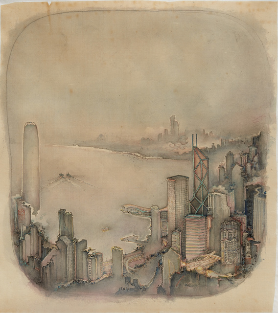 , 'The first glimmer of dawn on Hong Kong Harbour 港灣晨曦,' 2016, Alisan Fine Arts