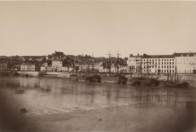 Édouard Baldus, 'Vue de Port de Boulogne', 1855, Photography, Lightly coated salt print from waxed paper negative on original mount, Contemporary Works/Vintage Works